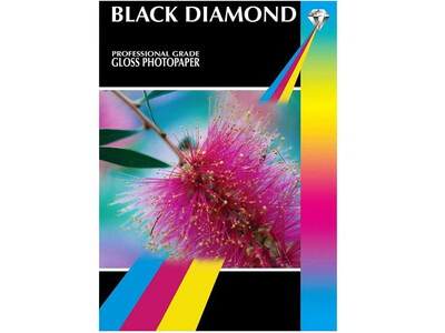 BLACK DIAMOND GLOSS PAPER A4 180G 20PK