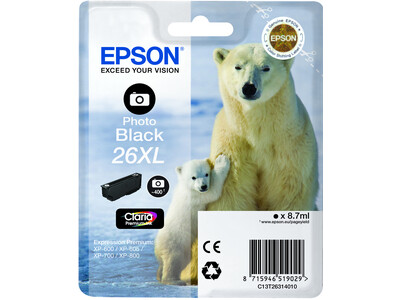 EPSON T26XL T2631 ORIGINAL XL PHOTO BLACK