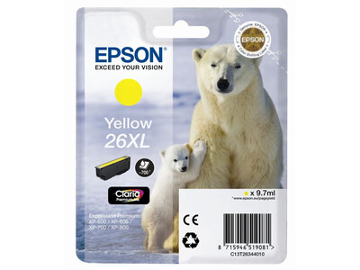 EPSON T26XL T2634 ORIGINAL XL YELLOW INK