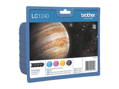 BROTHER LC1240 ORIGINAL SET 4 INKS