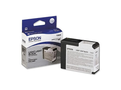EPSON PRO 3800 T5809 ORIGINAL LIGHTX2 BLACK