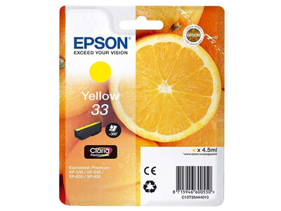 EPSON T334440 ORIGINAL YELLOW INK