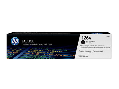 HP CE310A ORIGINAL TONER BLACK TWIN PACK 126A