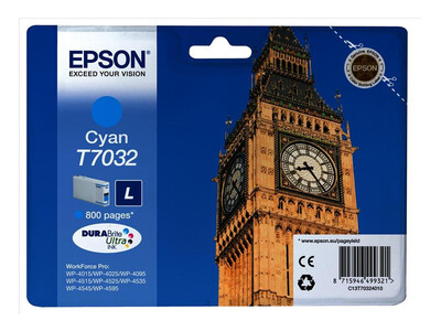 EPSON T703240 ORIGINAL CYAN INK LARGE
