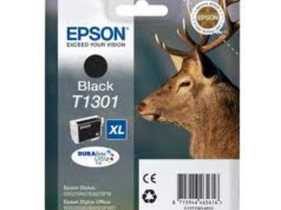 EPSON T1301 XL H/Y ORIGINAL BLACK INK