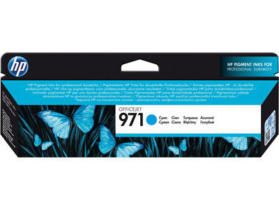 HP 971 ORIGINAL CYAN INK *2500 PAGES