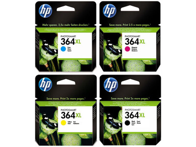 HP 364 XL ORIGINAL SET OF 4 INKS