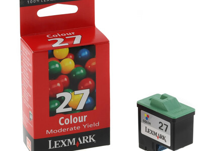 LEXMARK 27 ORIGINAL COLOUR INK