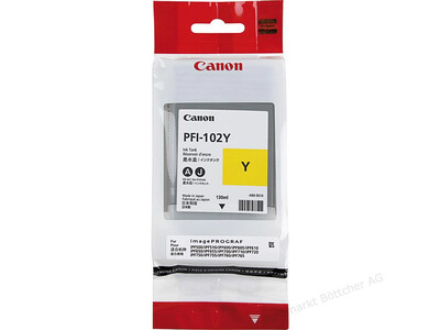 CANON INK PFI 102 ORIGINAL YELLOW INK