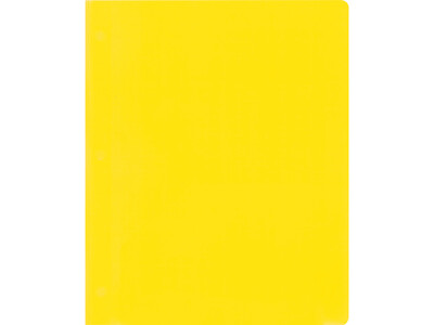 PVC FOLDER A4 L SHAPE10PCS YELLOW
