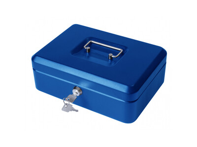 CASH BOX HOLDER 12 BLUE