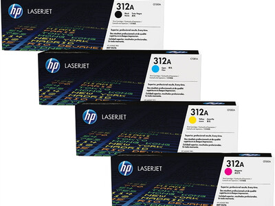 HP CF380A ORIGINAL TONER SET OF 4 312A