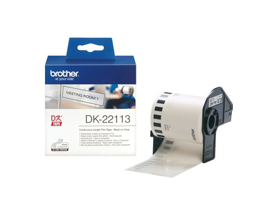BROTHER CLEAR CONTINUOUS FILM TAPE 62MM X 15.24M