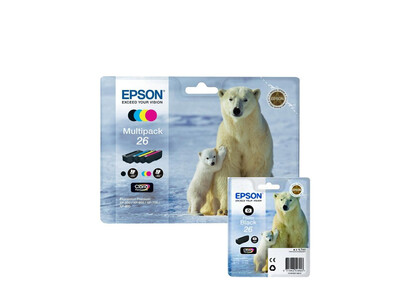 EPSON T26XL ORIGINAL SET OF 5 INKS