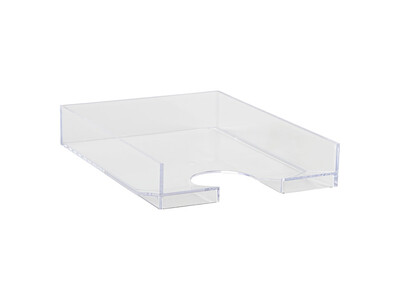 PLASTIC OFFICE TRAY CLEAR