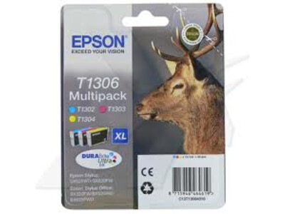 EPSON T1306 XL H/Y ORIGINAL MULTIPACK 3 COLOURS