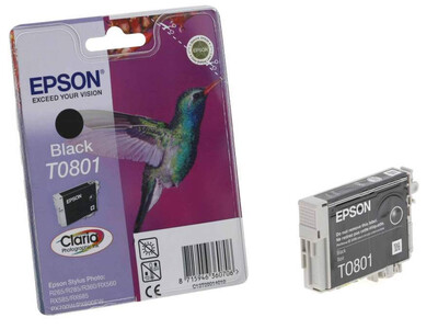 EPSON T0801 ORIGINAL BLACK INK