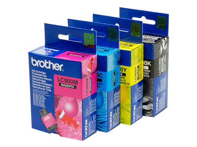 BROTHER LC900 ORIGINAL SET OF 4 INKS