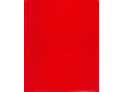 PVC FOLDER A4 L SHAPE10PCS RED