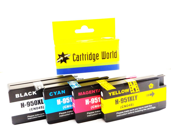 HP950-951 EXTRA LARGE CW REPLACEMENT SET 4 INKS