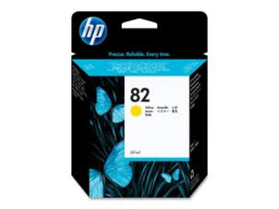 HP 82 ORIGINAL HIGH YIELD YELLOW INK