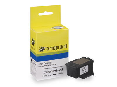 CANON PG-512 H/Y CW REPLACEMENT BLACK INK with ink level chip