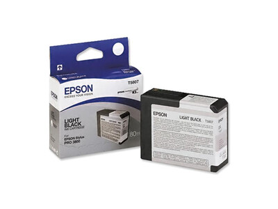 EPSON PRO 3800 T5807 ORIGINAL LIGHT BLACK