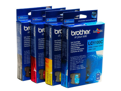 BROTHER LC1100 ORIGINAL SET OF 4 INKS