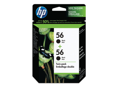 HP 56 ORIGINAL BLACK INK TWIN PACK