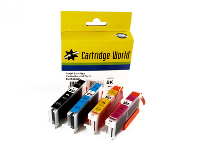 CANON CLI551 XL CW REPLACEMENT SET OF 4 INKS 551XL B/C/M/Y