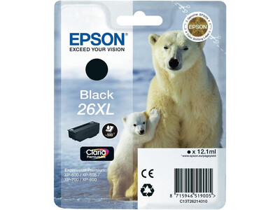 EPSON T26XL T2621 ORIGINAL XL BLACK INK