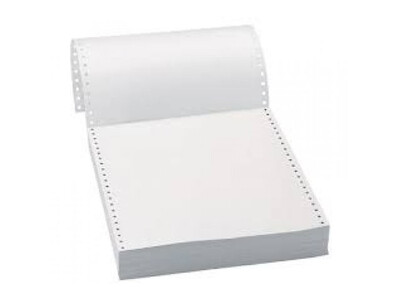COMPUTER LISTING PAPER 1PLY 11x 9.5  WHITE with perforation