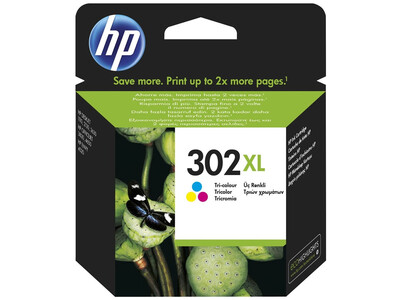 HP 302 EXTRA LARGE ORIGINAL COLOUR INK 8ML