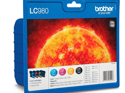 BROTHER LC980 ORIGINAL SET OF 4 INKS