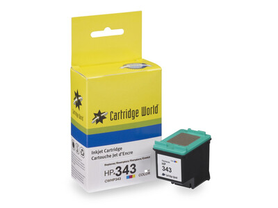 HP 343 REPLACEMENT COLOUR H/Y INK 22.5ML! 2X More Ink!