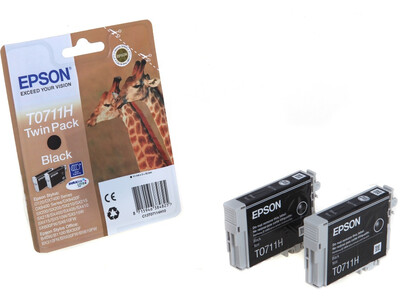 EPSON T07114H ORIGINAL BLACK INK 2PACK