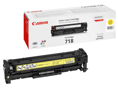 CANON 718 ORIGINAL TONER YELLOW
