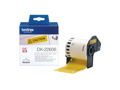 BROTHER YELLOW CONTINUOUS FILM TAPE 62MM X 15.24M