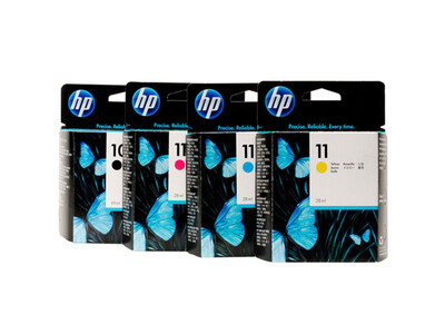 HP 10 / 11 ORIGINAL INK SET OF 4