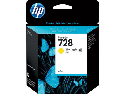 HP 728 ORIGINAL YELLOW INK