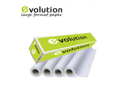 EVOLUTION COPIER PAPER ROLL NON- COATED 80GR  841x150m - PACK OF 1