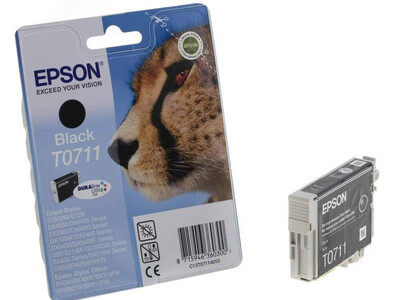 EPSON T0711 ORIGINAL BLACK INK