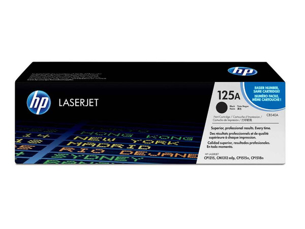 HP CB540A ORIGINAL TONER BLACK 125A