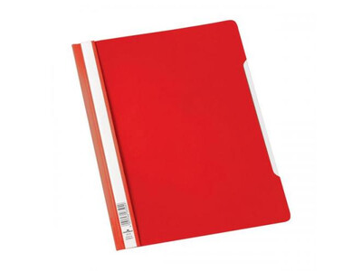PVC FLAT FILE REPORT COVER A4 RED