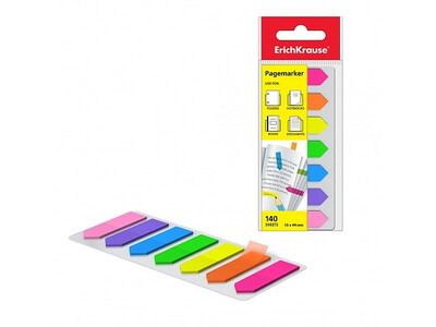 ERICHKRAUSE PAGE MARKER ARROWS NEON 12x44 mm 140 sheets/7 colors