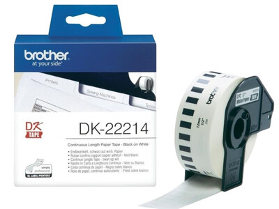 BROTHER WHITE CONTINUOUS PAPER TAPE 12MM X 30.48M