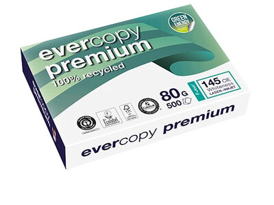 RECYCLE PAPER EVERCOPY PREMIUM 80G WHITE A4