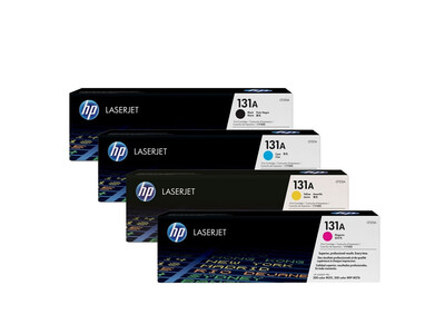 HP CF210A ORIGINAL TONER SET OF 4 131A