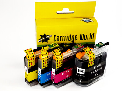 BROTHER LC225/227XL CW REPLACEMENT SET OF 4 INKS