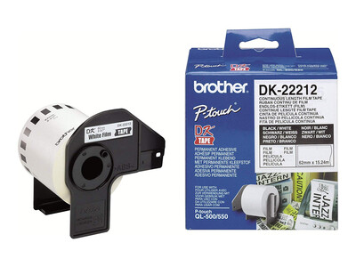 BROTHER WHITE CONTINUOUS FILM TAPE 62MM X 15.24M